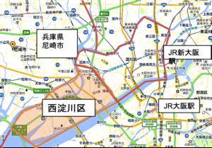 西淀川区地図